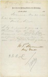 Sherman Savannah Letter